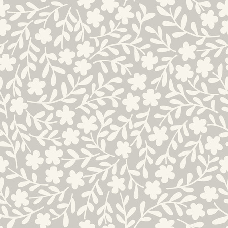 Simple seamless vector pattern with flowers Vectores