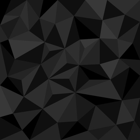 grey: Abstract black background with triangles