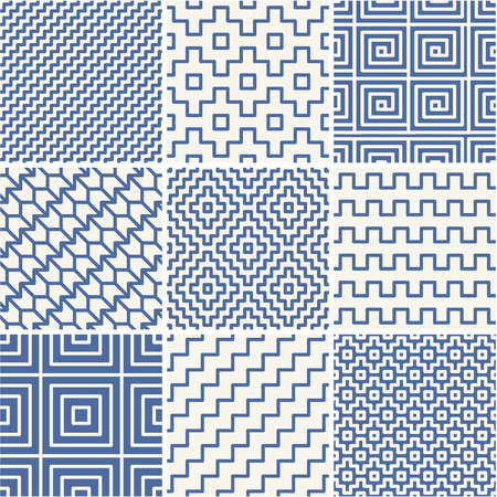 mono: Vector mono line backgrounds with simple patterns