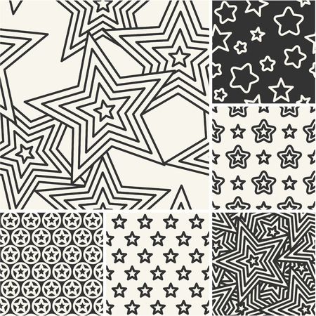 pentagonal: Thin lines backgrounds with pentagonal star