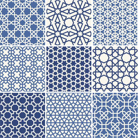 arabic: Set of Arabic seamless patterns, vector