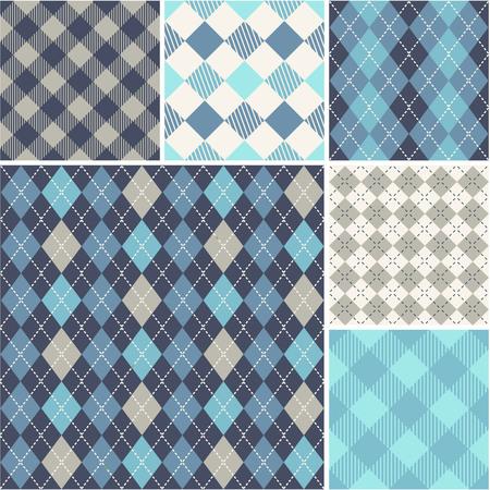 scots: Argyle - seamless set of pattern