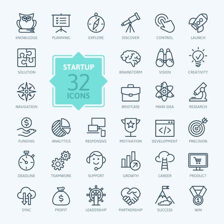 main idea: Outline web icon set - start-up project