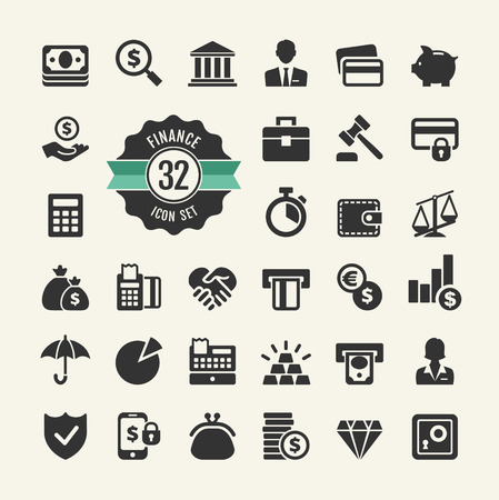 Money, finance, payments web Icon collection