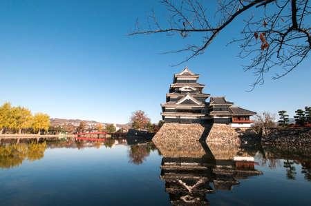 matsumoto: Matsumoto castle in spring season in Japan. Stock Photo