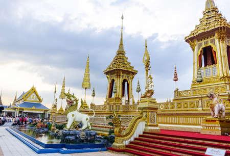 Bangkok,Thailand : November 29, 2017, The Royal Crematorium for HM King Bhumibol Adulyadej at Sanum Luang