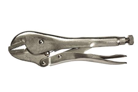 locking: Straight Jaw Locking Pliers Stock Photo