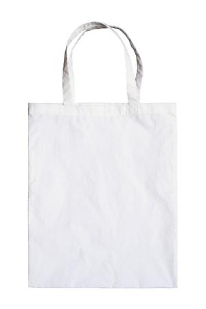 weft: Fabric bag isolated on white background Stock Photo