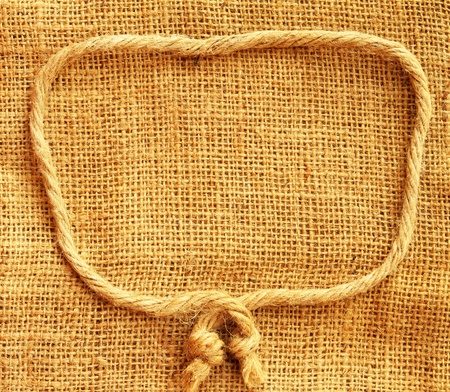 Hemp cloth with rope texture background photo
