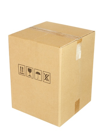Karton auf weißem Hintergrund Standard-Bild - 11648274