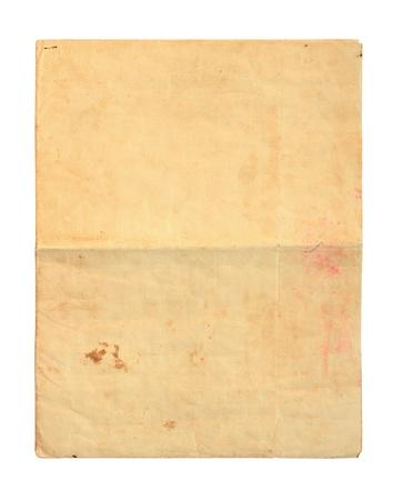 oud document: Oud document op een witte achtergrond Stockfoto