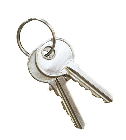 Türschlüssel isoliert auf weißem Hintergrund Standard-Bild - 11648292