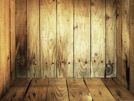 Inside old wooden box texture background  photo