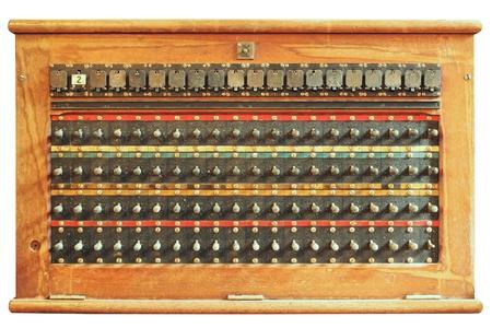 antique telephone: Vintage telephone switchboard box