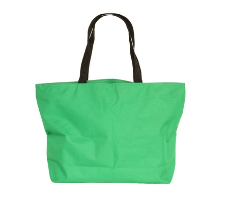 reusable: Fabric bag isolated on white background Stock Photo