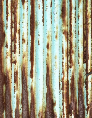 olden: Rusty corrugated metal texture background  Stock Photo