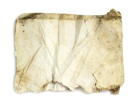 oud document: Oude document op een witte achtergrond