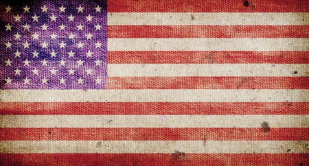 America flag ,grunge and retro Stock Photo