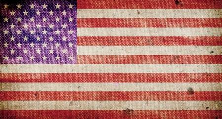 america flag: America flag ,grunge and retro Stock Photo