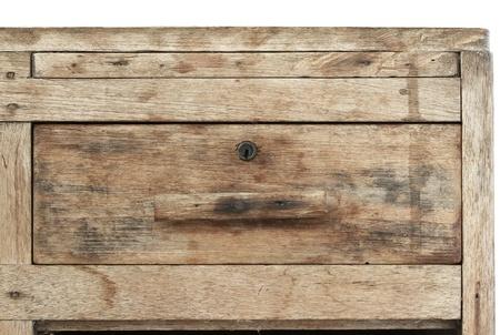 Oude Houten Kast : Oude houten kast geïsoleerd op witte achtergrond royalty vrije foto