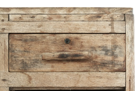 Vintage wooden cabinet drawer Stock Photo - 12049069