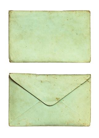Old envelope isolated on white background Stock Photo - 12155546