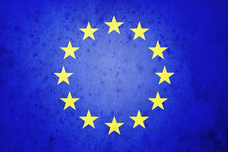 European flag ,grunge and retro photo
