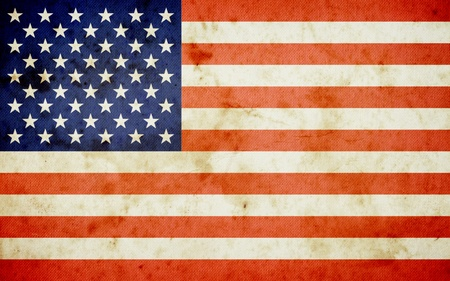 Amerika Fahne, Grunge und Retro Standard-Bild - 12155551