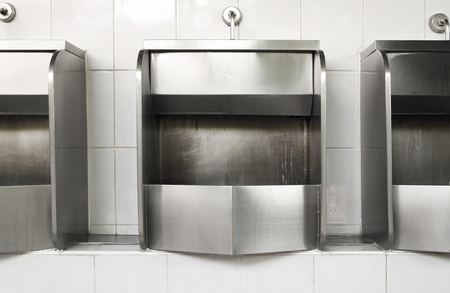 Public stainless steel urinal