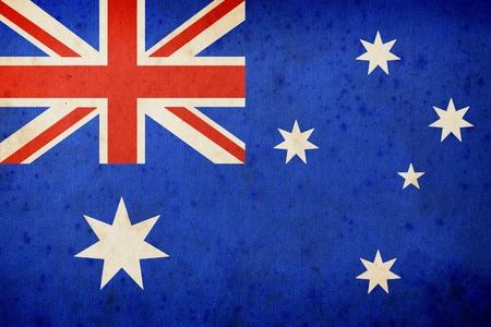 Australien Fahne, Grunge und Retro Standard-Bild - 12447332