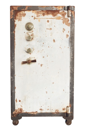 Vintage safe isolated on white background  Stock Photo - 12447343