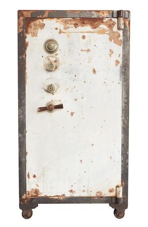 safety box: Vintage safe isolated on white background