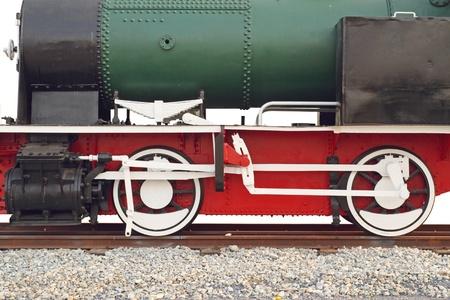 Steam locomotive wheel photo