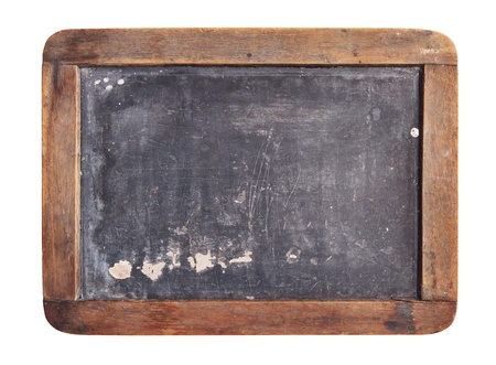 Grunge Schiefertafel isoliert auf weißem Hintergrund Standard-Bild - 12747783