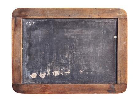 slate board: Grunge slate board isolated on white background