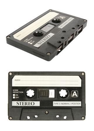 audio cassette: Retro cassette tape isolated on white background  Stock Photo