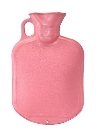 warm water: Warm water fles geà ¯ soleerd op witte achtergrond