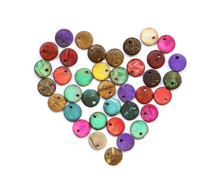 trinket: Heart shape from colorful beads