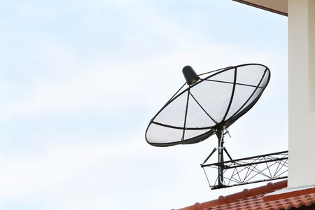 Black satellite dish antenna  photo