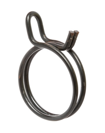 hydraulic hoses: Hose Clamp isolated on white background