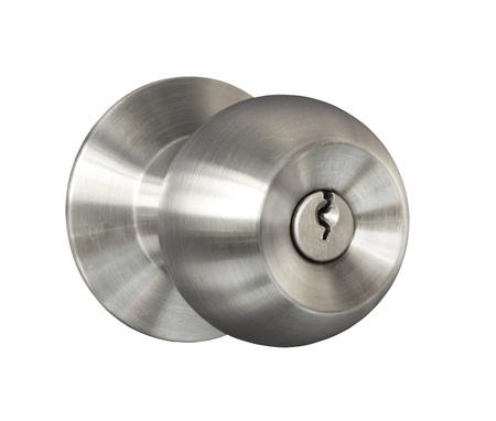 Türknopf auf weißem Hintergrund Standard-Bild - 13762319