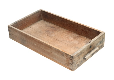 Vintage wooden cabinet drawer isolated on white background Stock Photo - 13807214
