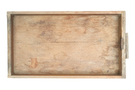 Vintage wooden cabinet drawer isolated on white background Stock Photo - 13807215