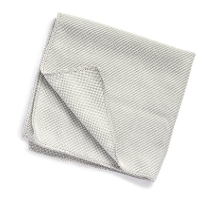 wash cloth: Microfiber towel on white background