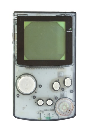 Retro Spielkonsole isoliert auf weißem Hintergrund Standard-Bild - 13867777