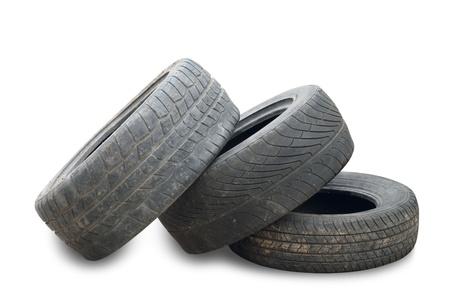Gebrauchte Reifen isoliert auf weißem Hintergrund Standard-Bild - 13903891