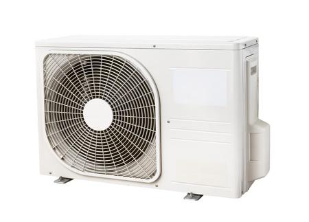 condenser: Air condenser unit isolated on white background