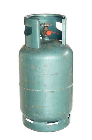 Gas cylinder isolated on white background  Stock Photo - 14120679
