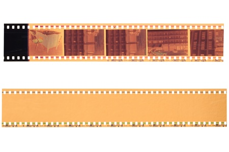 film strip: 35 mm film strip isolated on white background Stock Photo