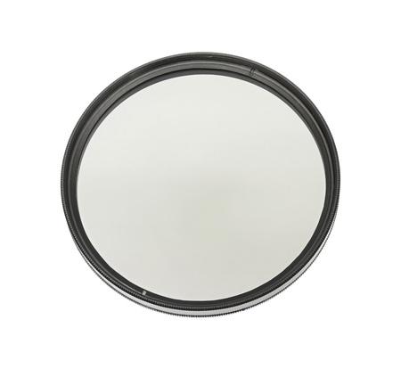 cpl: Polarizing lens filter isolated on white background